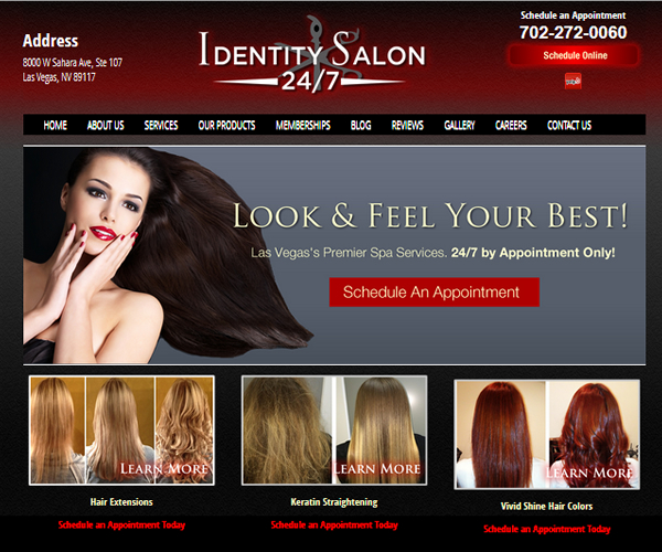 Identity Hair Salon 24 / 7 - Las Vegas Web Designs | HR and ...